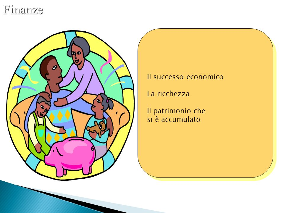 Finanze Il successo economico La ricchezza Il patrimonio che