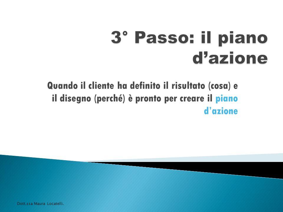 3° Passo: il piano d'azione
