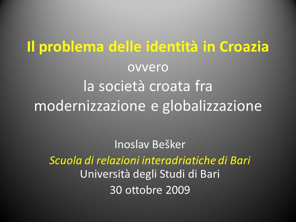 Il problema delle identità in Croazia ovvero la società croata fra modernizzazione e globalizzazione