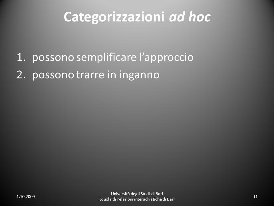 Categorizzazioni ad hoc
