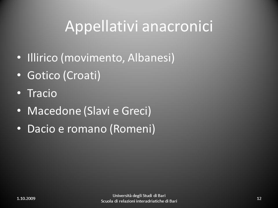 Appellativi anacronici