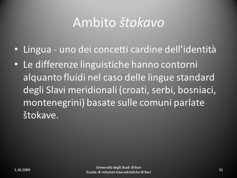 Ambito štokavo Lingua - uno dei concetti cardine dell'identità