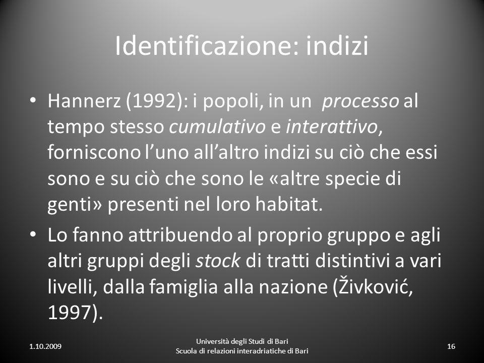 Identificazione: indizi