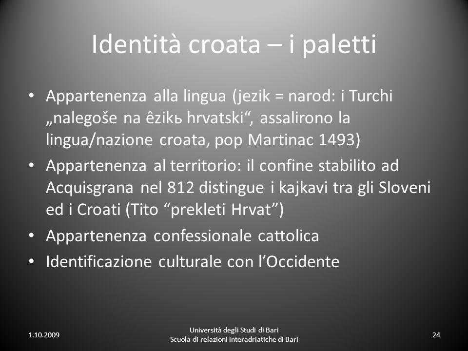 Identità croata – i paletti