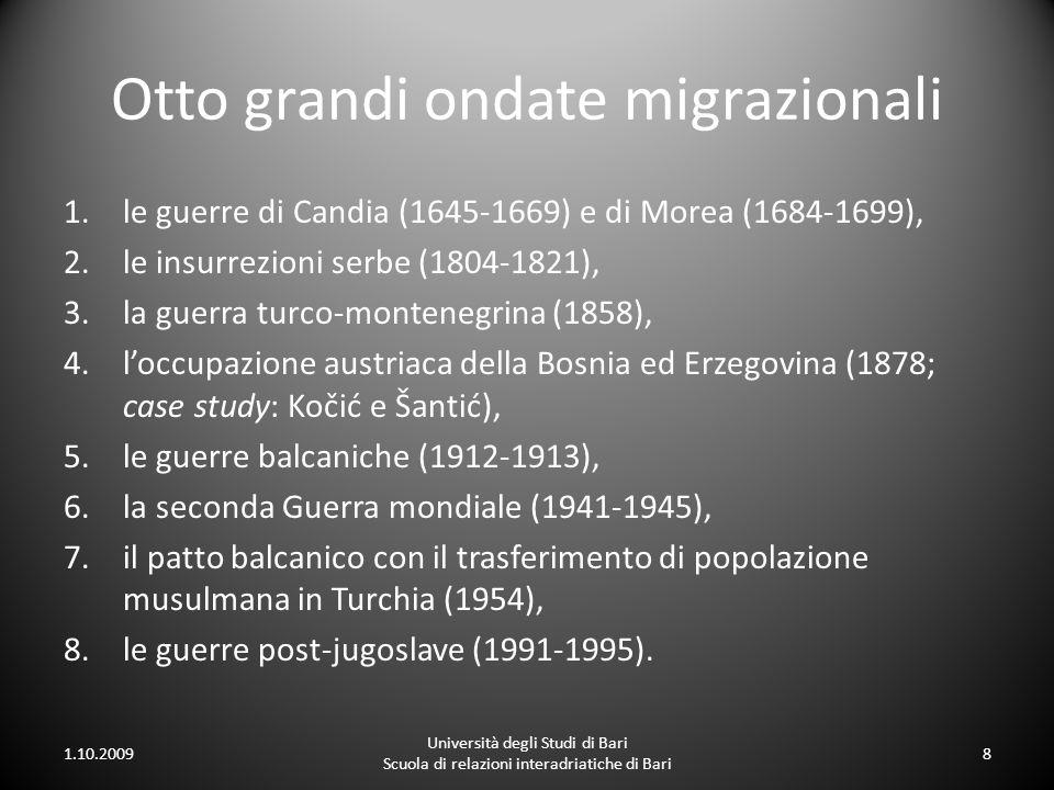 Otto grandi ondate migrazionali