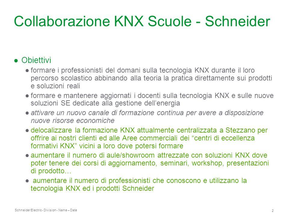Collaborazione KNX Scuole - Schneider