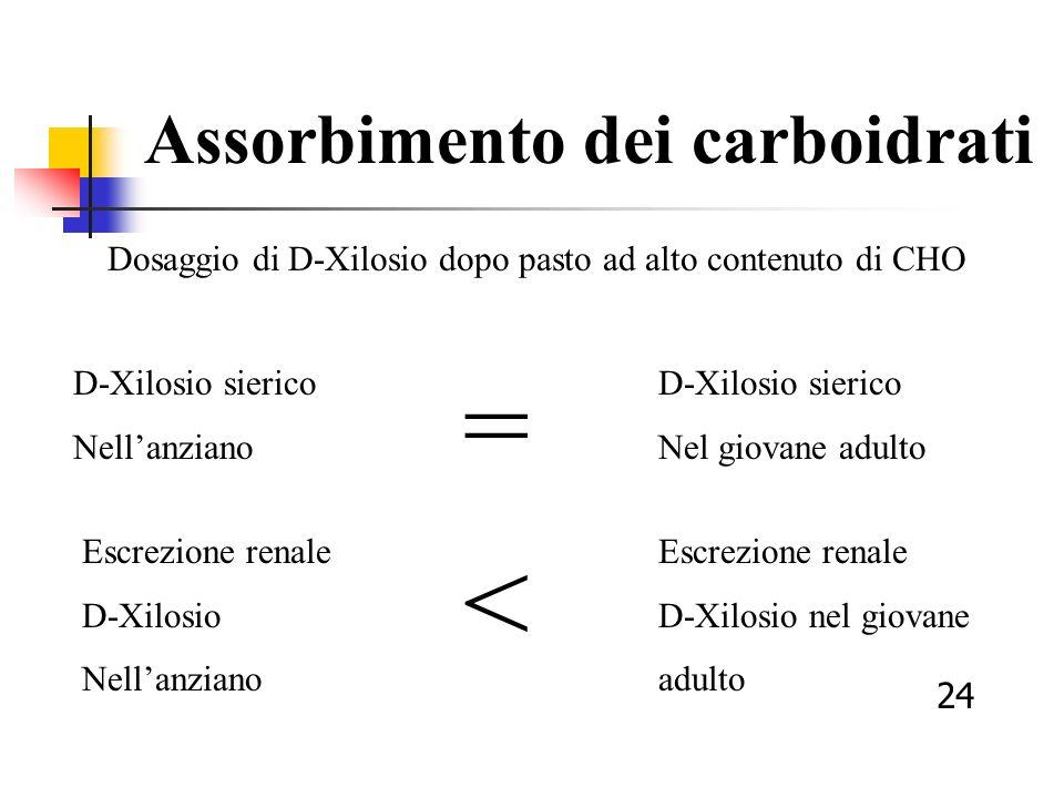 Dosaggio di D-Xilosio dopo pasto ad alto contenuto di CHO