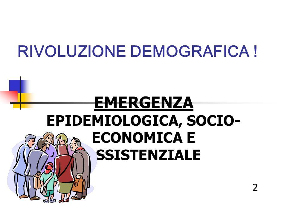 RIVOLUZIONE DEMOGRAFICA !