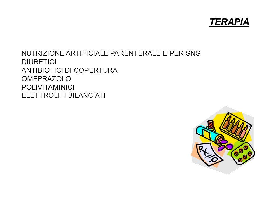 TERAPIA NUTRIZIONE ARTIFICIALE PARENTERALE E PER SNG DIURETICI