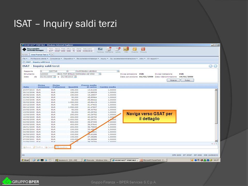 ISAT – Inquiry saldi terzi