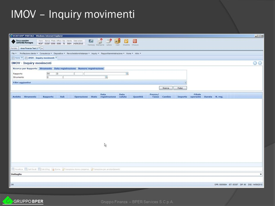 IMOV – Inquiry movimenti