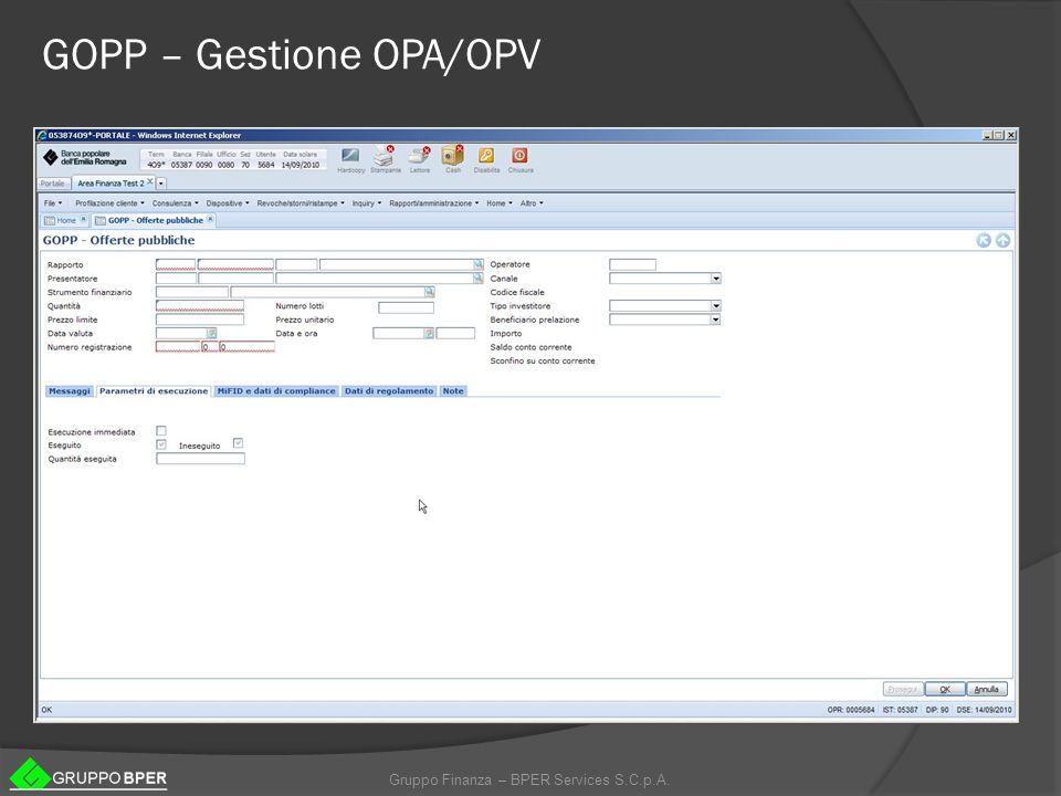 GOPP – Gestione OPA/OPV