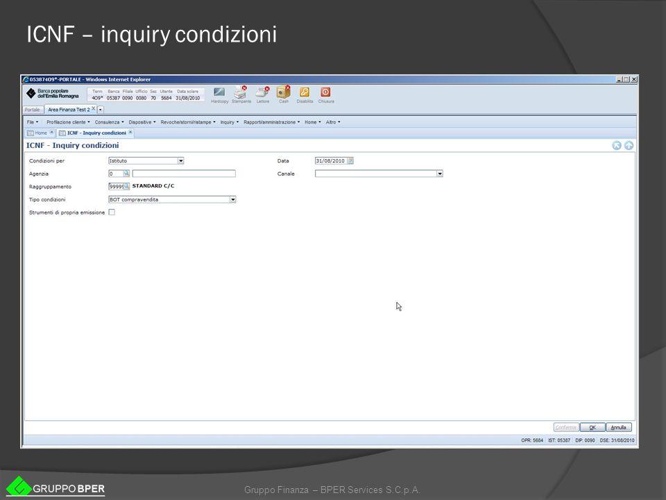 ICNF – inquiry condizioni
