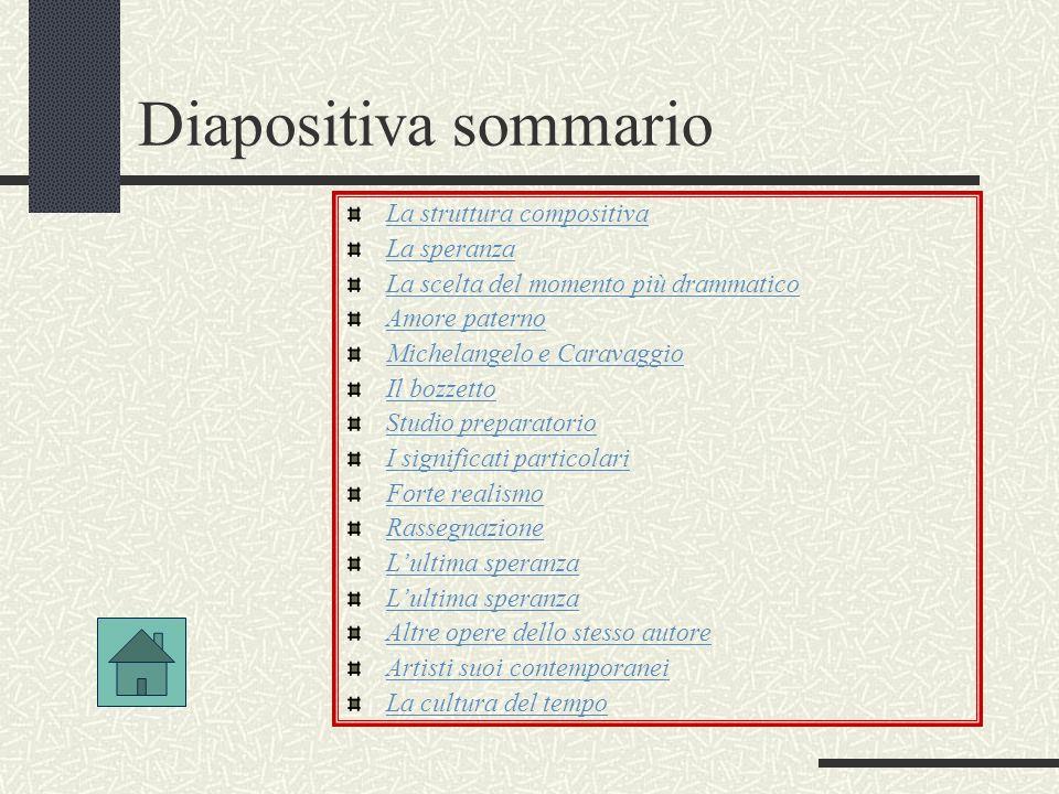 Diapositiva sommario La struttura compositiva La speranza