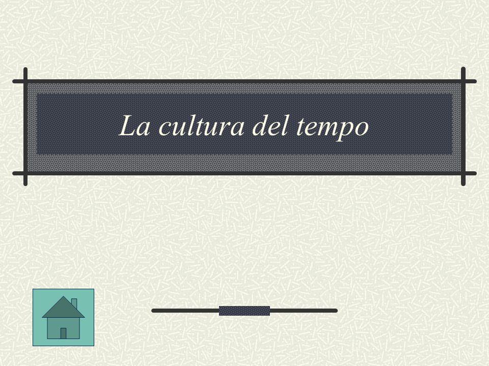 La cultura del tempo