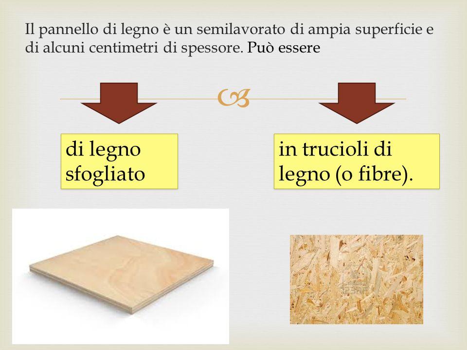 in trucioli di legno (o fibre).
