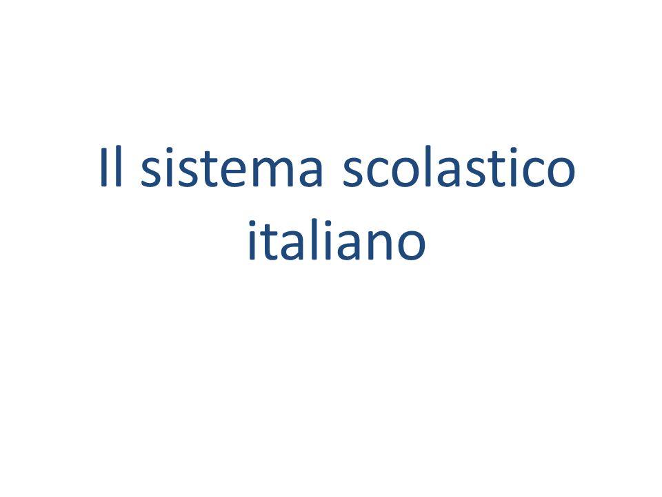Il sistema scolastico italiano