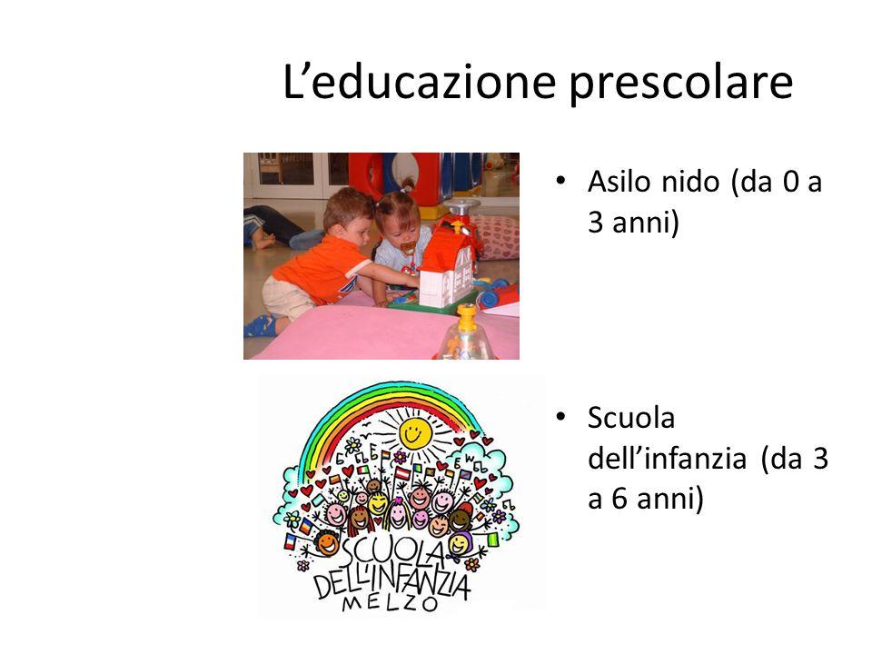 L'educazione prescolare