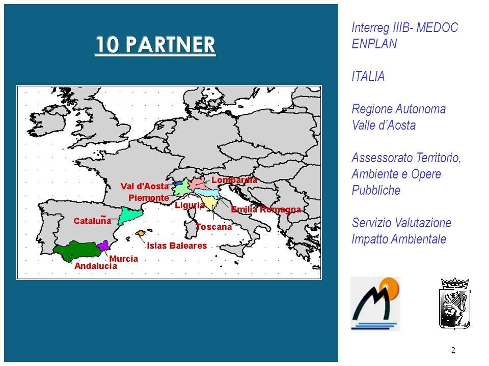 10 PARTNER Interreg IIIB- MEDOC ENPLAN ITALIA