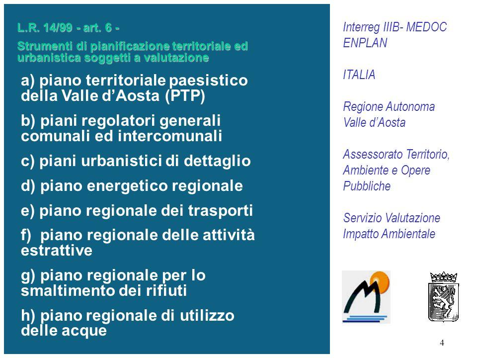 a) piano territoriale paesistico della Valle d'Aosta (PTP)