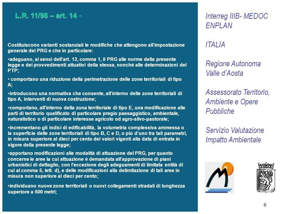 Interreg IIIB- MEDOC ENPLAN