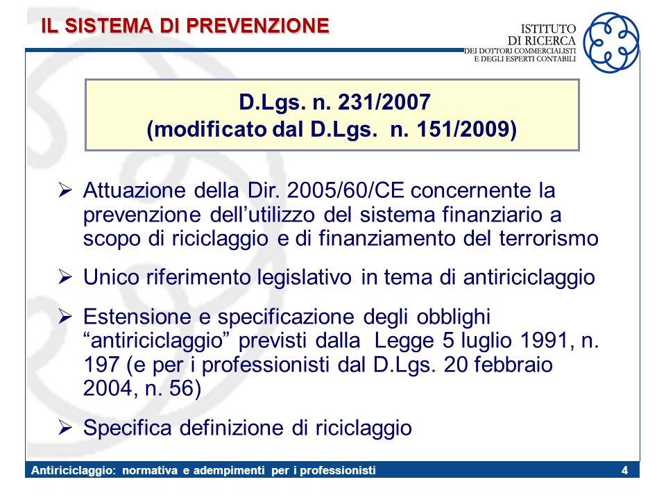 (modificato dal D.Lgs. n. 151/2009)