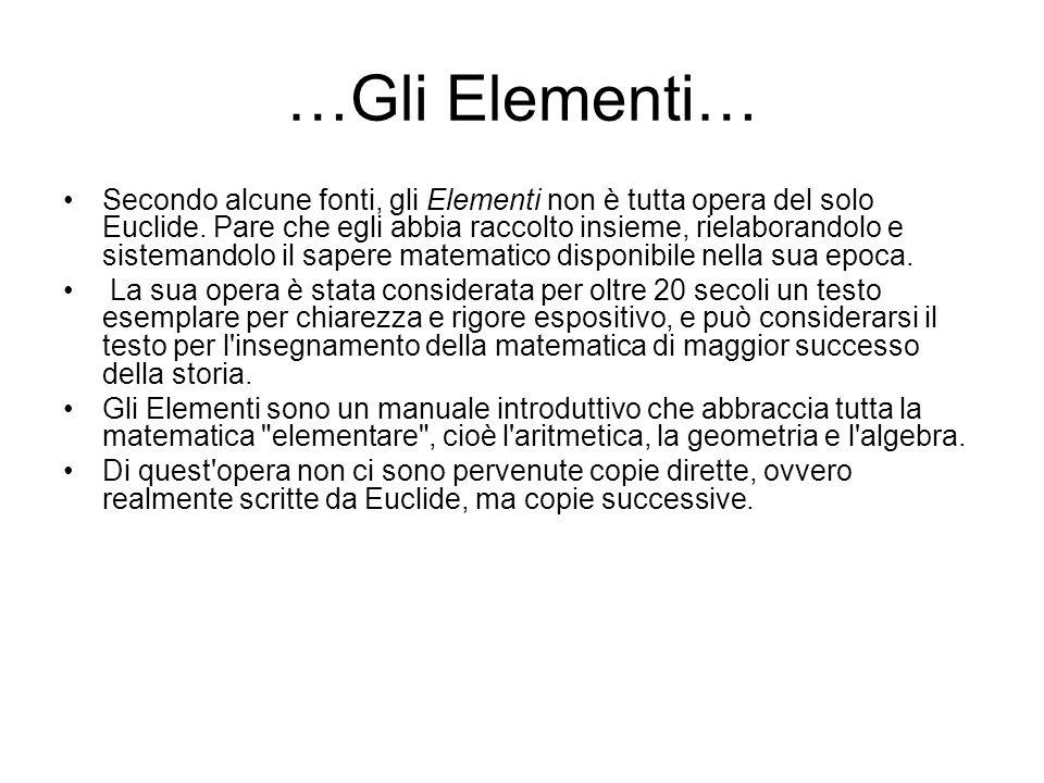 …Gli Elementi…