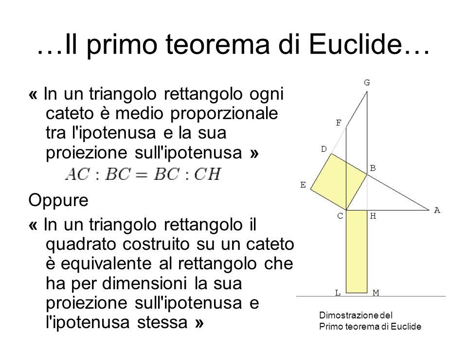 …Il primo teorema di Euclide…