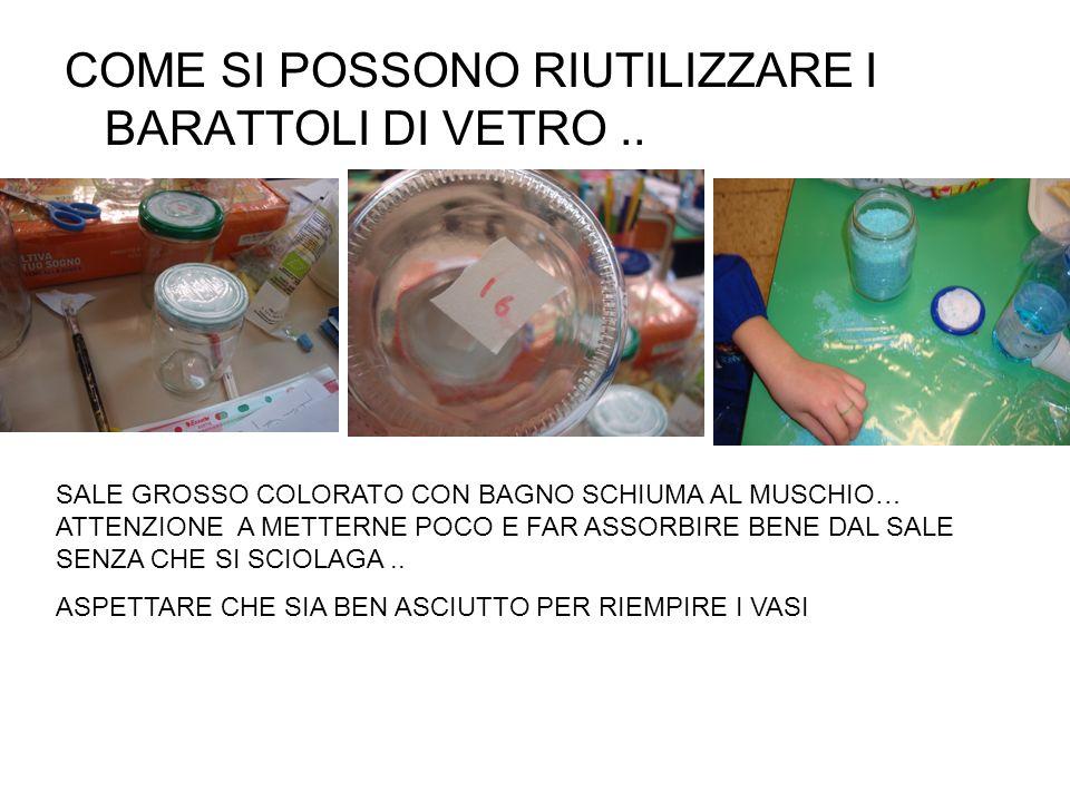COME SI POSSONO RIUTILIZZARE I BARATTOLI DI VETRO ..