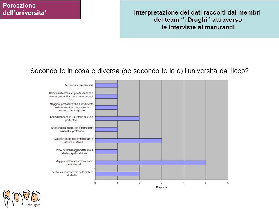 Percezione dell'universita'