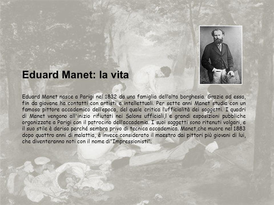 Eduard Manet: la vita