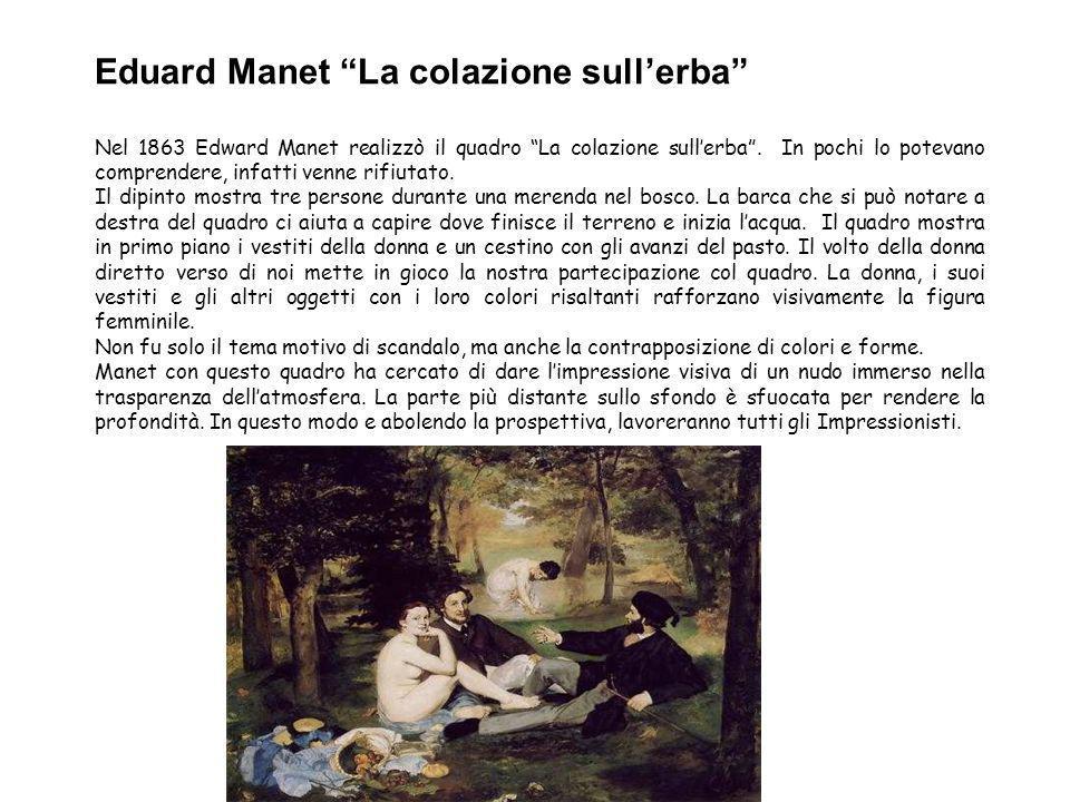 Eduard Manet La colazione sull'erba