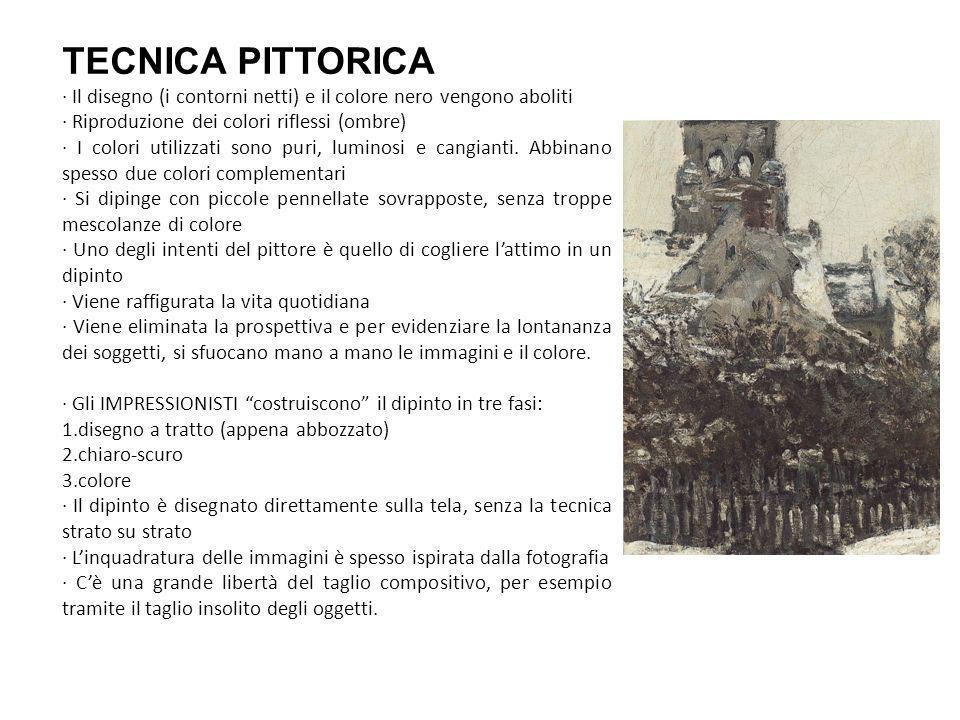TECNICA PITTORICA · Il disegno (i contorni netti) e il colore nero vengono aboliti. · Riproduzione dei colori riflessi (ombre)