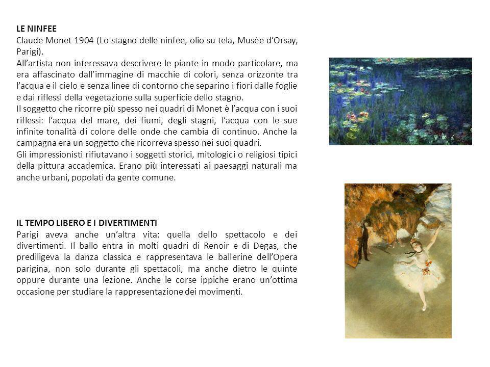 LE NINFEE Claude Monet 1904 (Lo stagno delle ninfee, olio su tela, Musèe d'Orsay, Parigi).