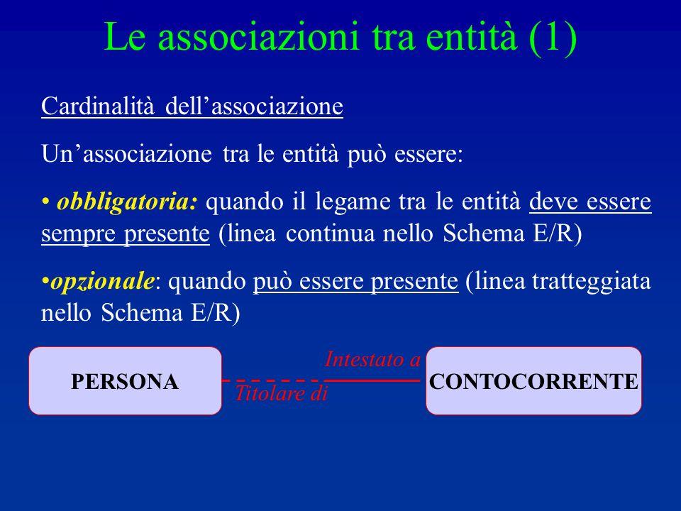 Le associazioni tra entità (1)