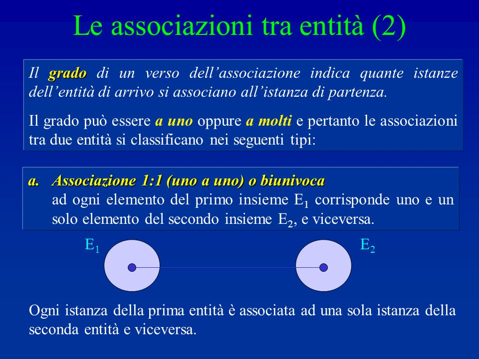Le associazioni tra entità (2)