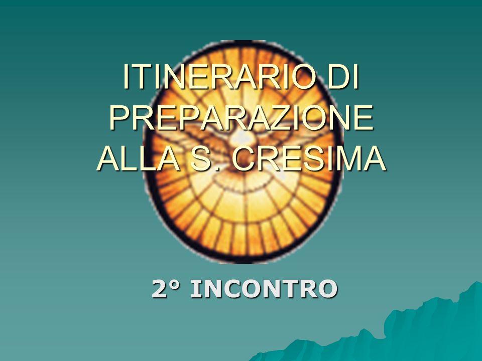 ITINERARIO DI PREPARAZIONE ALLA S. CRESIMA