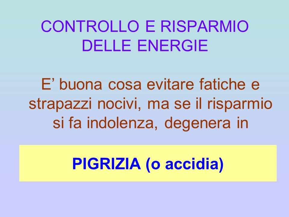 CONTROLLO E RISPARMIO DELLE ENERGIE