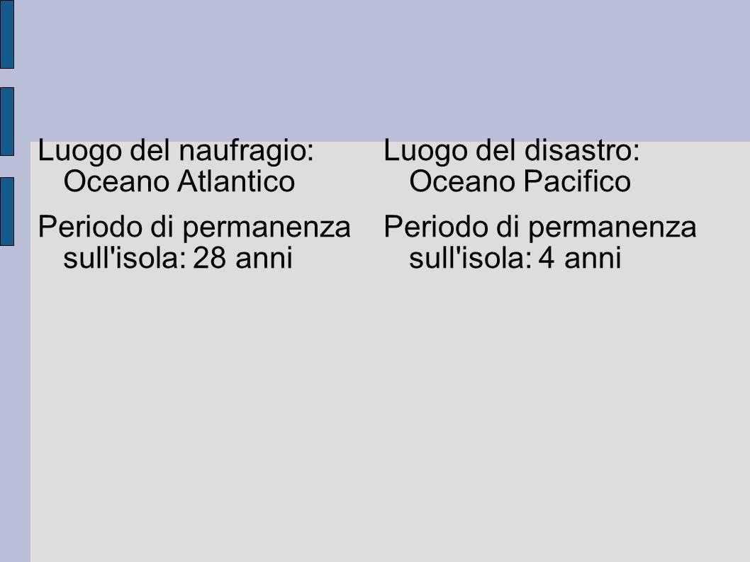 Luogo del naufragio: Oceano Atlantico