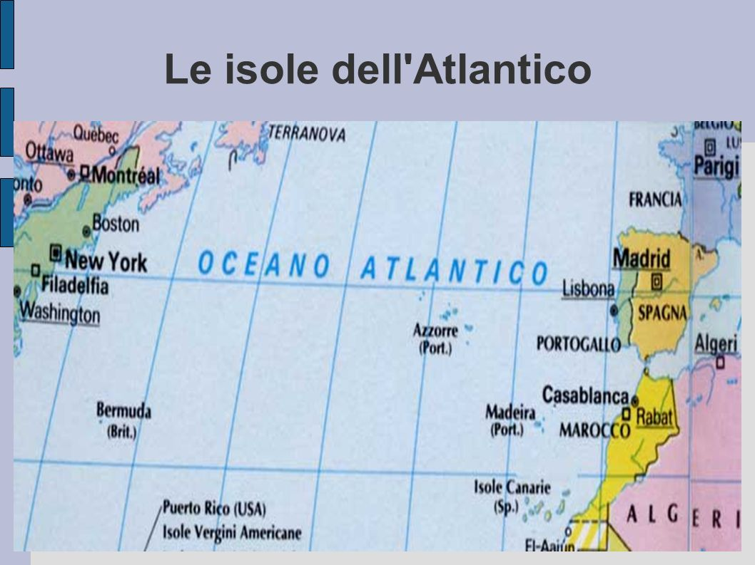 Le isole dell Atlantico