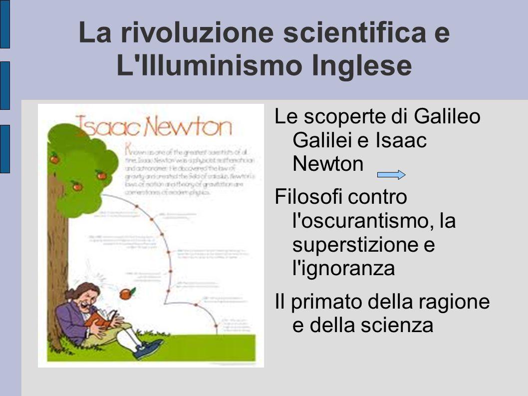 La rivoluzione scientifica e L Illuminismo Inglese