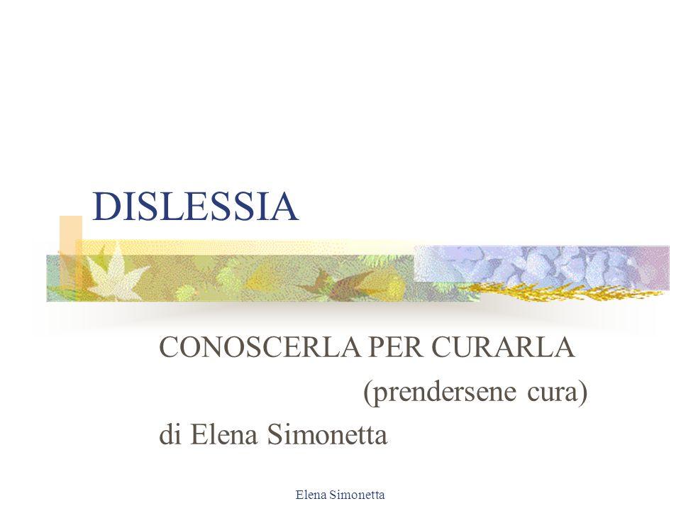 CONOSCERLA PER CURARLA (prendersene cura) di Elena Simonetta