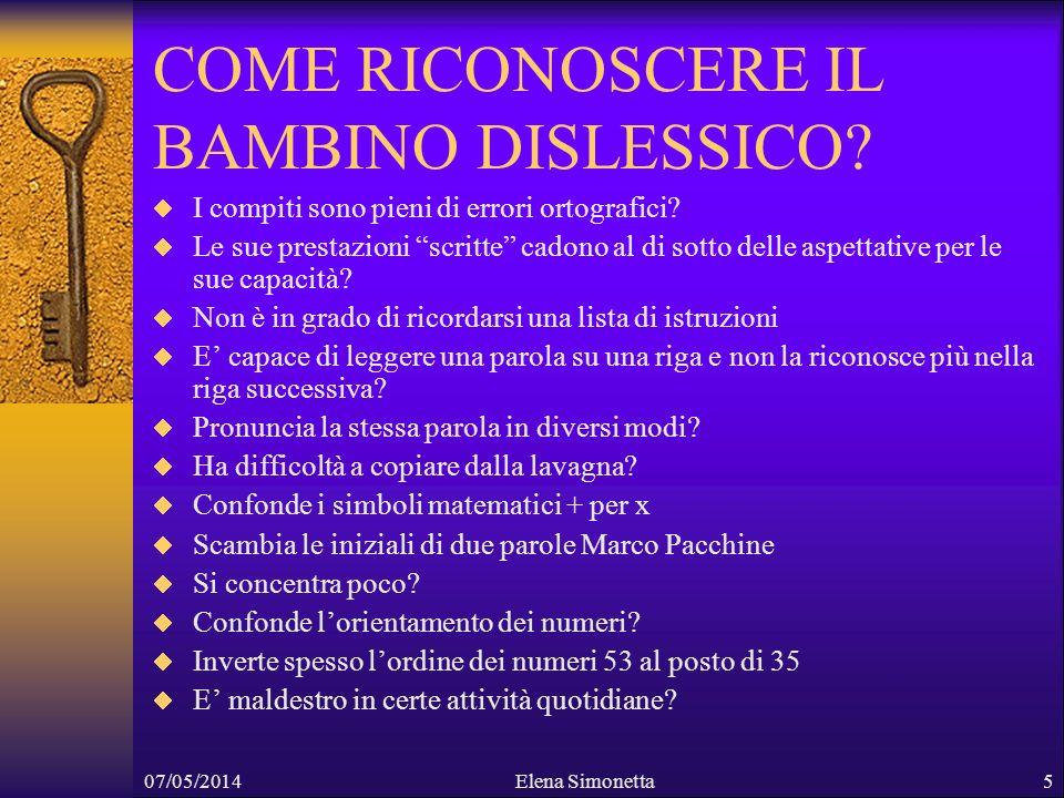 COME RICONOSCERE IL BAMBINO DISLESSICO