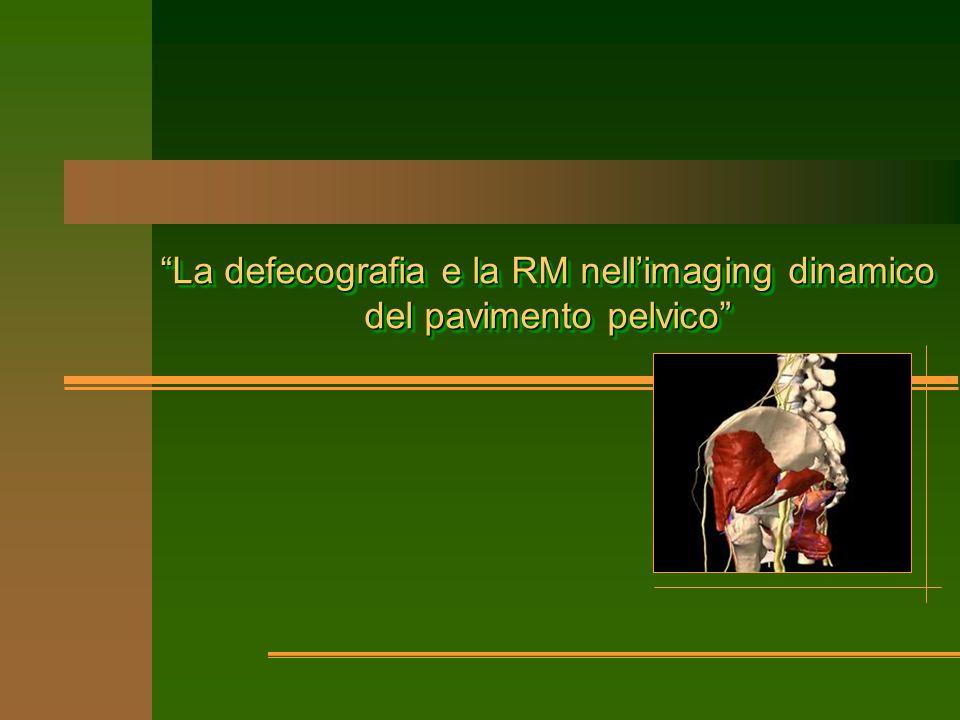 La defecografia e la RM nell'imaging dinamico del pavimento pelvico