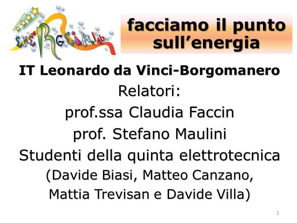 facciamo il punto sull'energia IT Leonardo da Vinci-Borgomanero