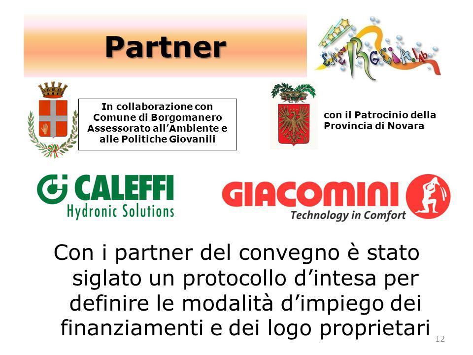 Partner In collaborazione con Comune di Borgomanero. Assessorato all'Ambiente e. alle Politiche Giovanili.