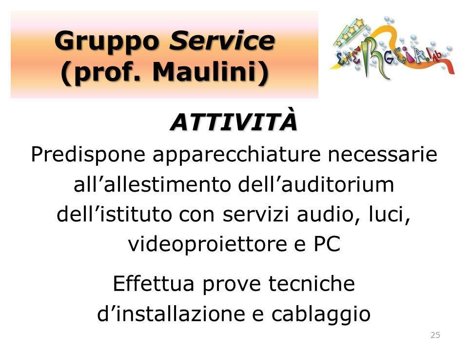 Gruppo Service (prof. Maulini)