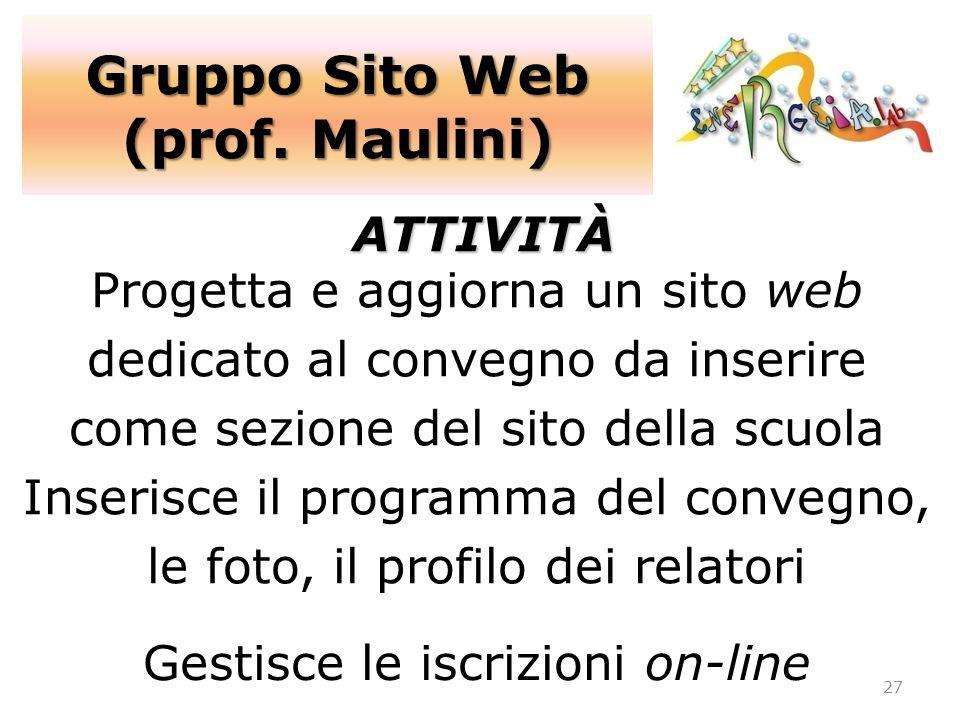 Gruppo Sito Web (prof. Maulini)