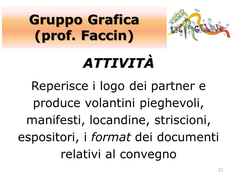 Gruppo Grafica (prof. Faccin) ATTIVITÀ