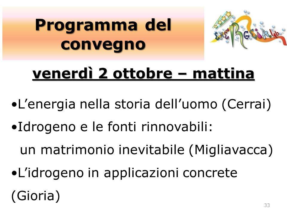 Programma del convegno venerdì 2 ottobre – mattina